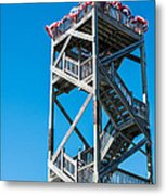Old Wooden Watchtower Key West Metal Print by Ian Monk