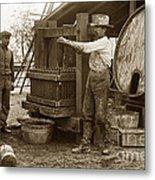 Old  Wooden Wine Press Circa 1910 Metal Print