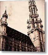 Old World Grand Place Metal Print