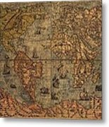 Old World Map Metal Print by Dan Sproul