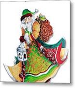Old World Santa Christmas Art Original Painting By Megan Duncanson Metal Print