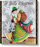 Old World Santa Clause Christmas Art Original Painting By Megan Duncanson Metal Print