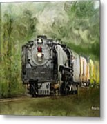 Old World Steam Engine Metal Print