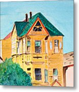 Old Yellow House In Downtown Oakland Metal Print