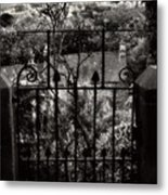 Olde Victorian Gate Leading To A Secret Garden - Peak District - England Metal Print