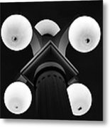 Old Tampa Light Black And White Metal Print