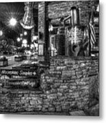 Ole Smoky Tennessee Moonshine In Black And White Metal Print