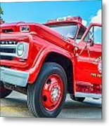 Ole Time Fire Truck Series 1 Metal Print by Kelly Kitchens