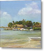 O'learys Tiki Bar Metal Print by Shawn McLoughlin
