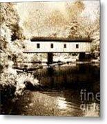 Olin Dewey Covered Bridge 35-04-03 Metal Print