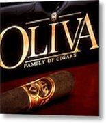 Oliva Cigar Still Life Metal Print