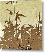 Olive And Brown Haiku Metal Print