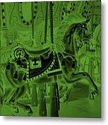 Olive Green Horse Metal Print