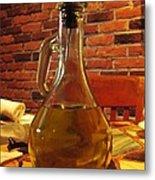 Olive Oil On Table Metal Print