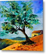 Olive Tree On The Hill Metal Print by Elise Palmigiani