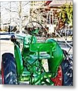 Oliver 60 Tractor In Dell Metal Print