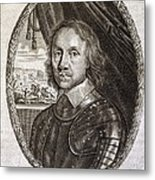 Oliver Cromwell, English Politician Metal Print