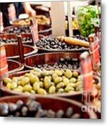 Olives In Barrels Metal Print