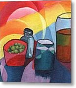 Olives Salt N Beer Metal Print by William Killen
