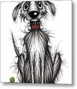 Ollie The Dog Metal Print