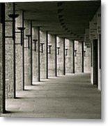 Olympiastadion Berlin Corridor Metal Print