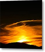 Olympic Mountain Sunset Photography Metal Print