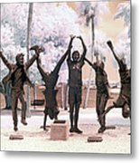 Olympic Wannabes Sculpture By Glenna Goodacre Near Infrared Metal Print