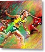 Olympics 100 Metres Hurdles Sally Pearson Metal Print