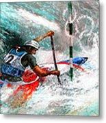 Olympics Canoe Slalom 02 Metal Print