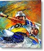 Olympics Canoe Slalom 04 Metal Print by Miki De Goodaboom