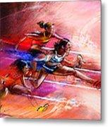 Olympics Heptathlon Hurdles 01 Metal Print