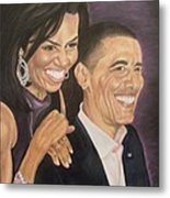 Ombience Of Love The Obama Metal Print