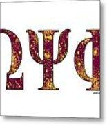 Omega Psi Phi - White Metal Print
