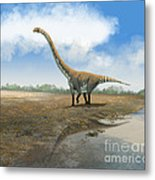 Omeisaurus Tianfuensis, An Euhelopus Metal Print