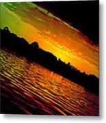 Ominous Sunset Metal Print