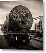 Ominous Train Under Dark Skies In New Orleans Metal Print by Louis Maistros