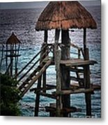 On 2 -ready-hut Hut Metal Print