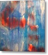 On A Clear Day - Red Forever Metal Print