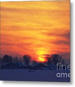 On A Cold Winter Evening Metal Print