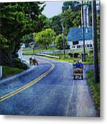 On A Country Road - Lancaster - Pennsylvania Metal Print