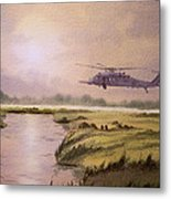 On A Mission - Hh60g Helicopter Metal Print