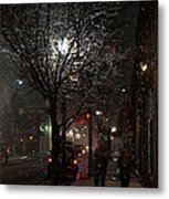 On A Walk In The Snow - Grants Pass Metal Print