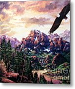 On A Wing And A Prayer Metal Print by W  Scott Fenton