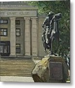On Courthouse Square Metal Print