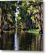 On Golden Canal Metal Print by Lana Trussell