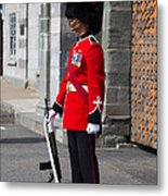 On Guard Quebec City Metal Print
