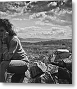 On Her Own Metal Print
