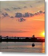 On Lake Maurepas Metal Print