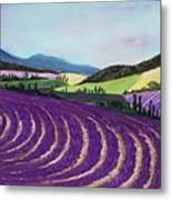 On Lavender Trail Metal Print