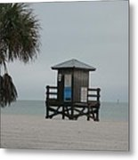 No Lifeguard On Duty Metal Print